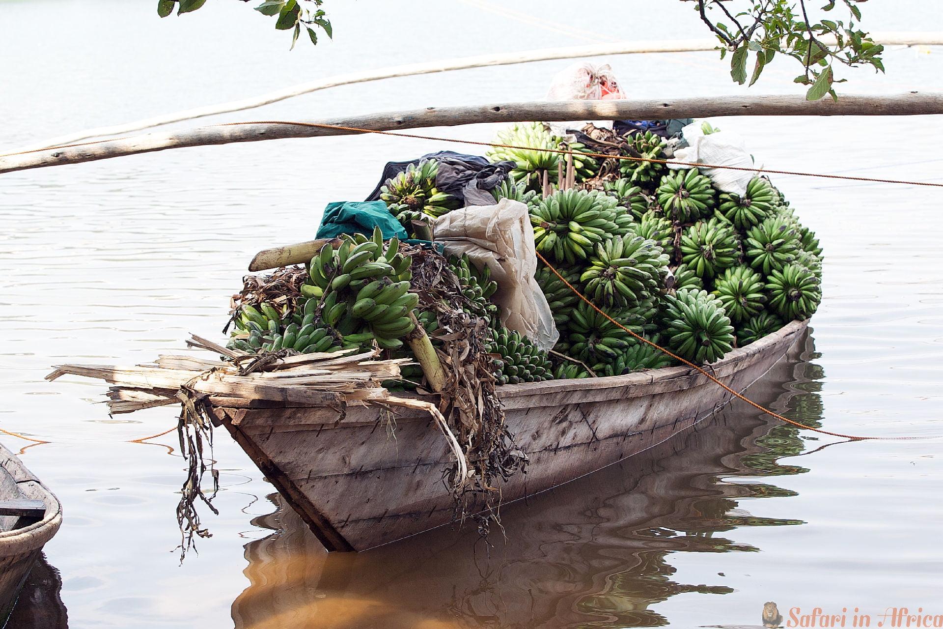Banana Boat in Lake Kivu, Rwanda
