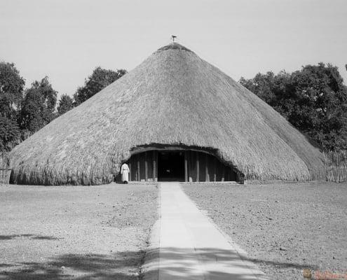 Buganda Royal tombs, Kampala, Uganda B&W
