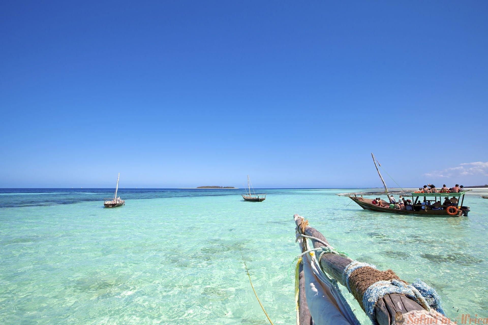 Christal clear water, Zanzibar