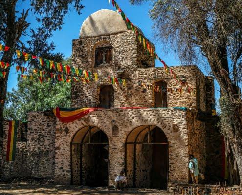 Church of Debra Berhan Selassie in Gondar, Ethiopia 2
