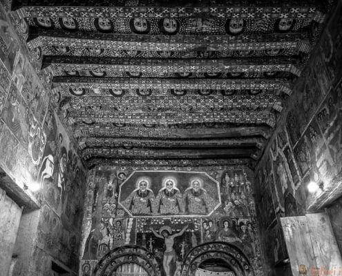 Church of Debra Berhan Selassie in Gondar, Ethiopia B&W