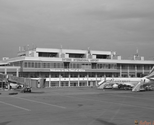 Entebbe International Airport B&W