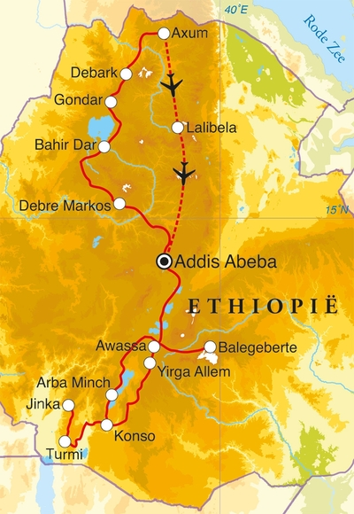 Ethiopië, reizen, vervoer & rondreizen