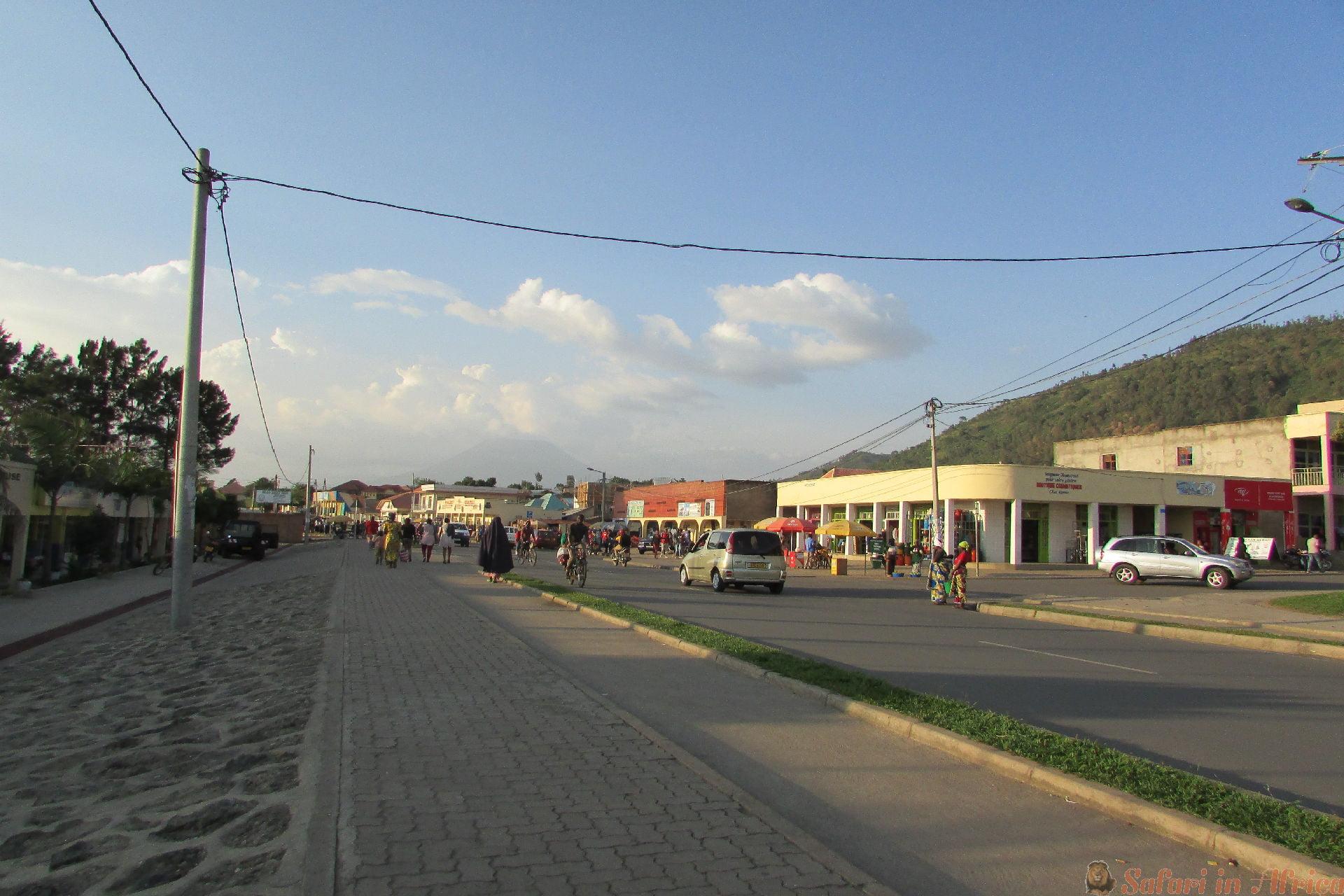 Gisenyi-stad in West-Rwanda
