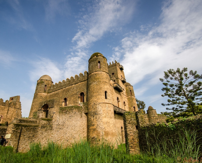 Gondar, Ethiopië, het kasteel van Ghebbi, Ethiopië