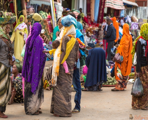 Harar Jugol colorful women