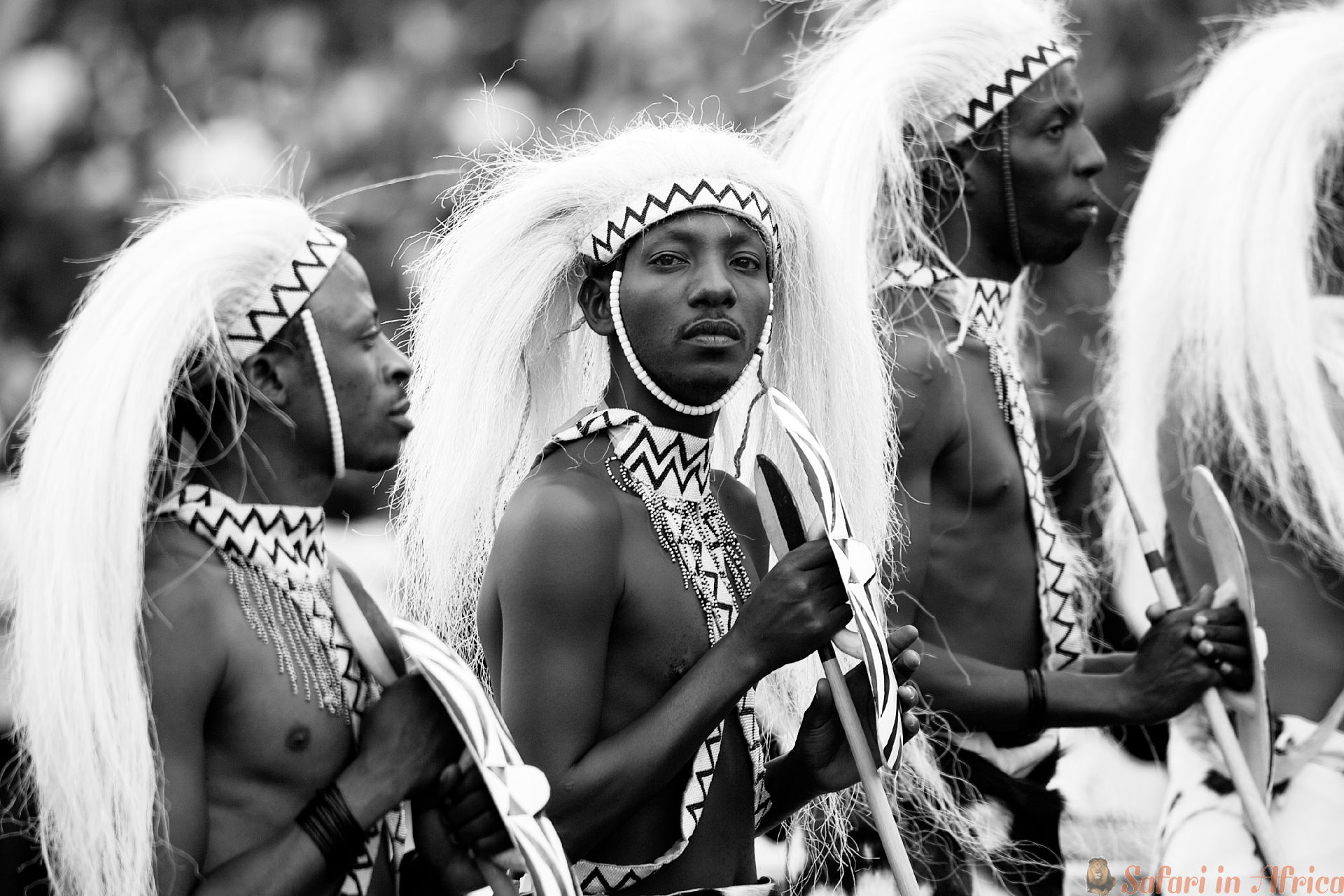 Intore Dancers, Rwanda B&W