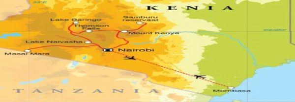 Kenia, reizen, vervoer & rondreizen
