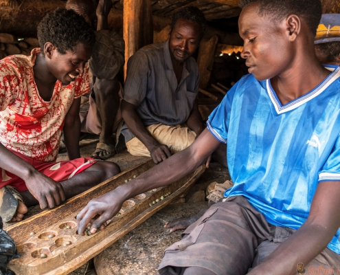 Konso tribe in Gamole, Ethiopia.