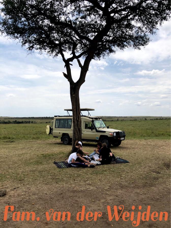 Lunch tijdens Safari