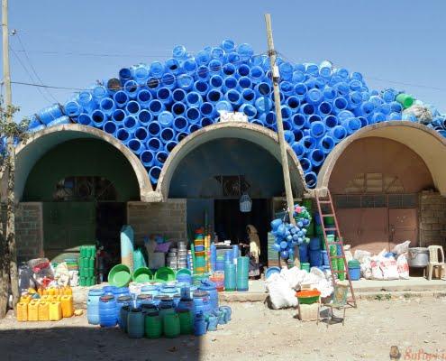 Market Hall of Mekele in Ethiopia. City, mekelle.