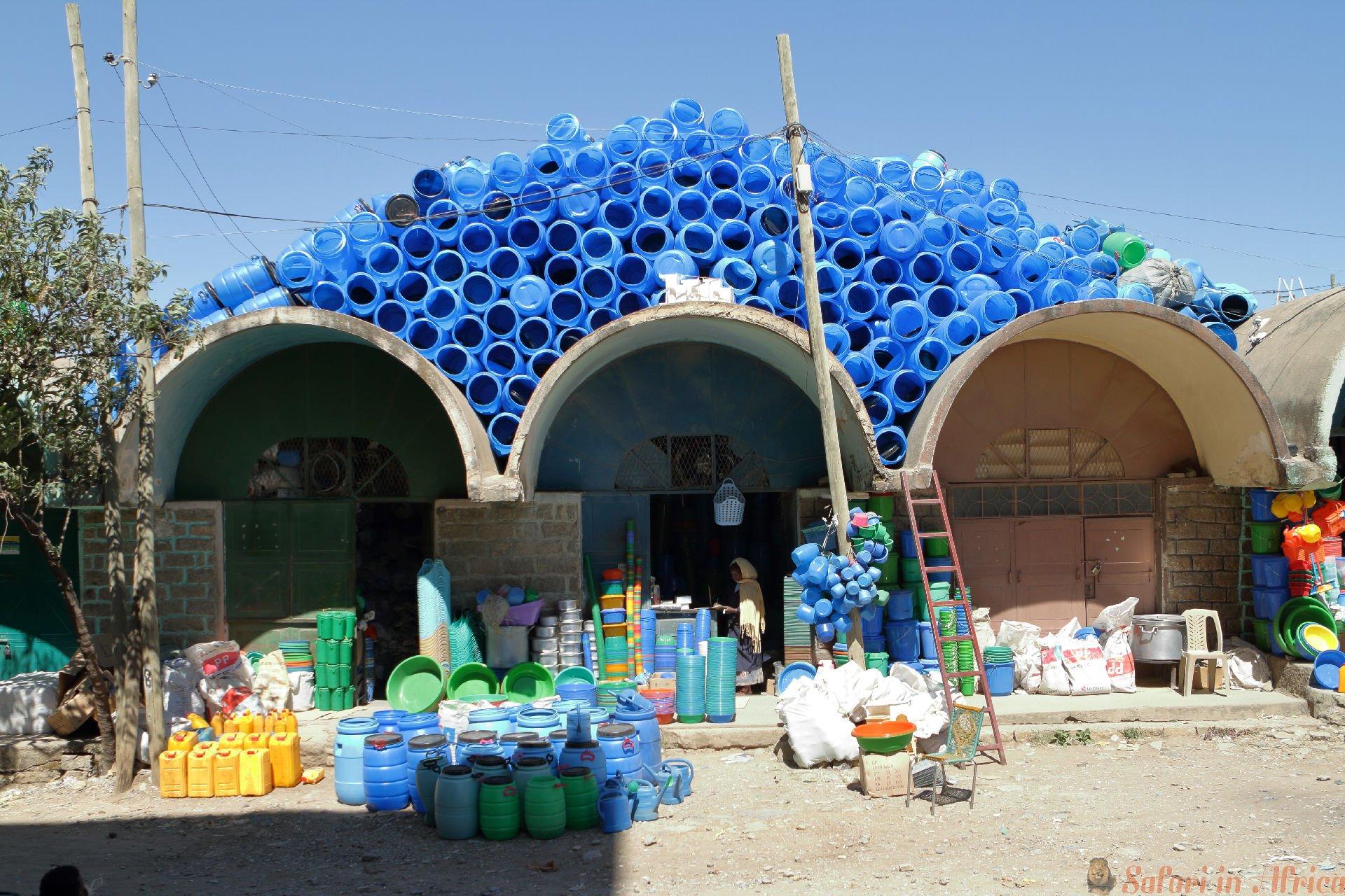 Markthal van Mekele in Ethiopië. Stad, Mekelle