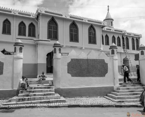 Mosque in Harar B&W
