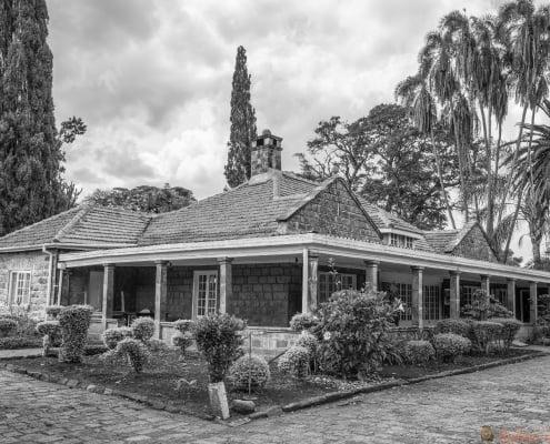 Museum of Karen Blixen in Nairobi, Kenya. B&W