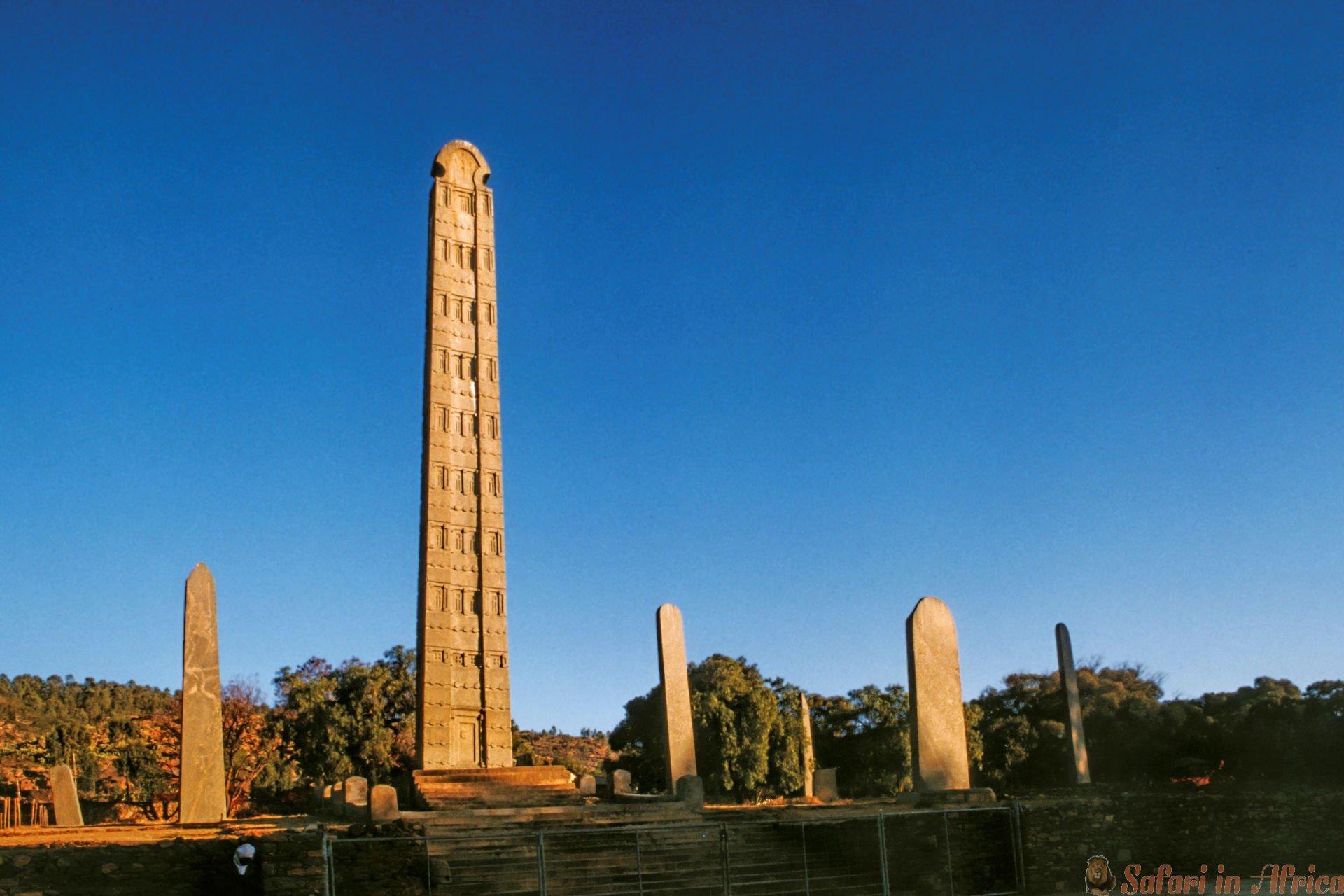 Obelisk in het Aksum-koninkrijk