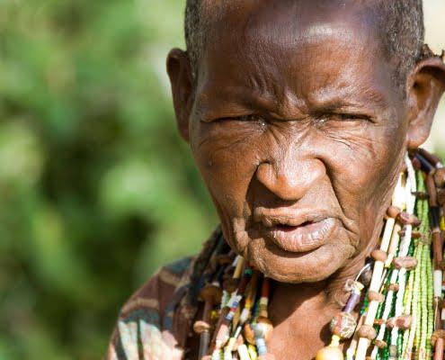 Old Hadzabe Woman, Lake Eyasi