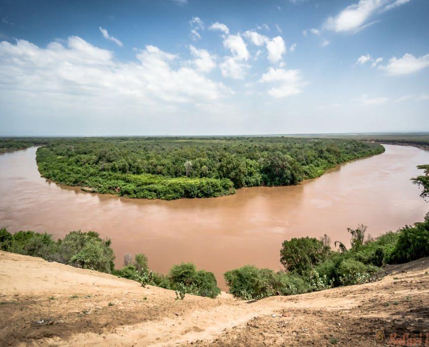 Omo river in Omo Valley, Omorate, Ethiopia