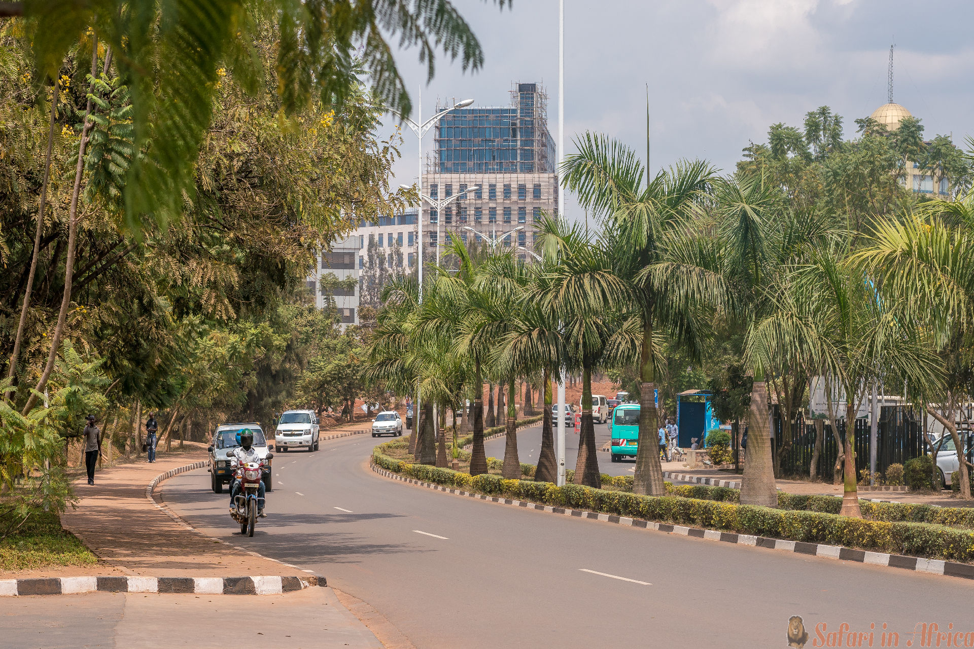 One of the cleanest cities in Africa, Kigali. Paved, urban