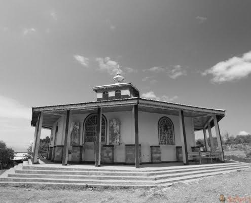Orthodox ethiopian church in Arba Minch, Ethiopia B&W