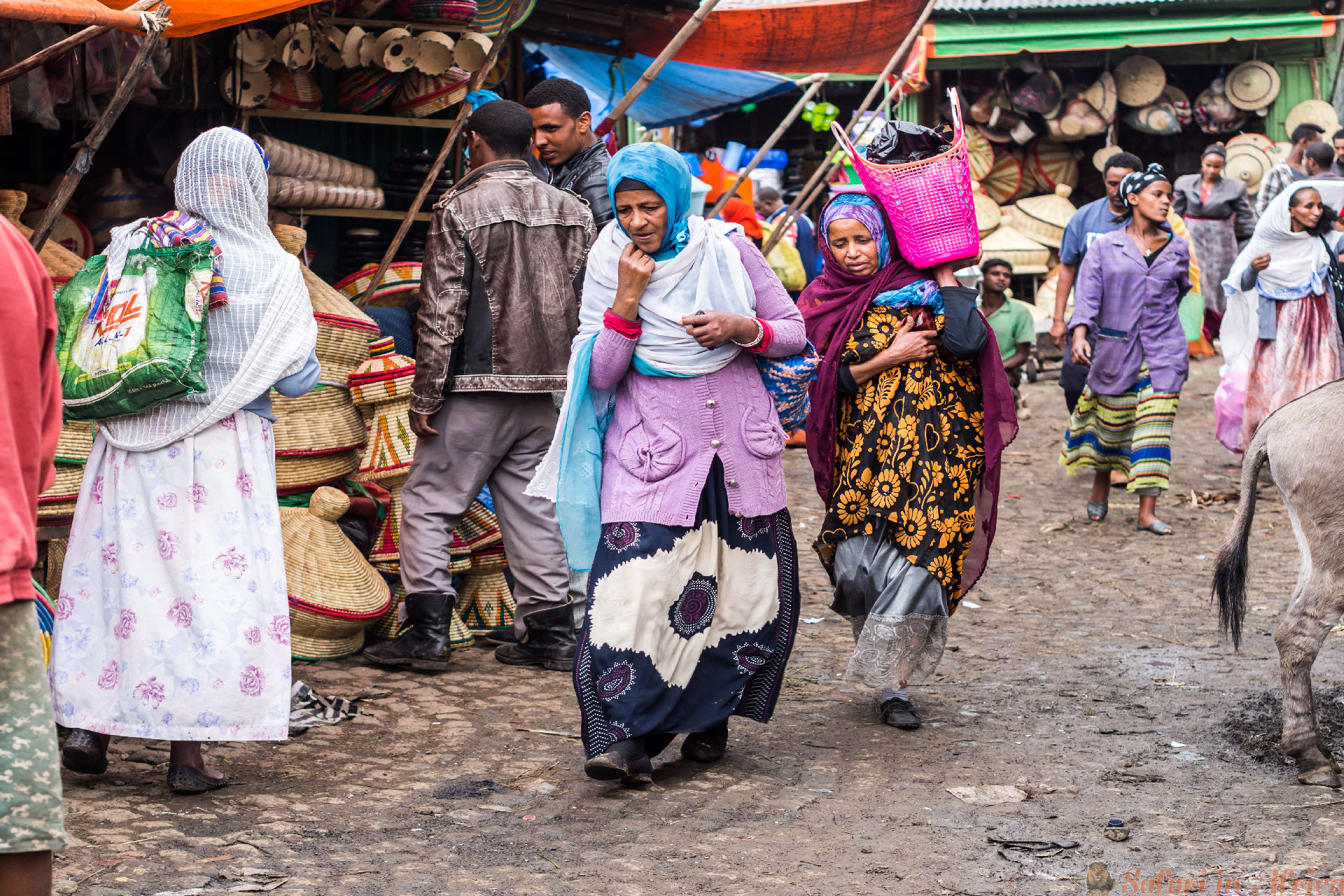 People at Addis Mercato in Addis Abeba, Ethiopia
