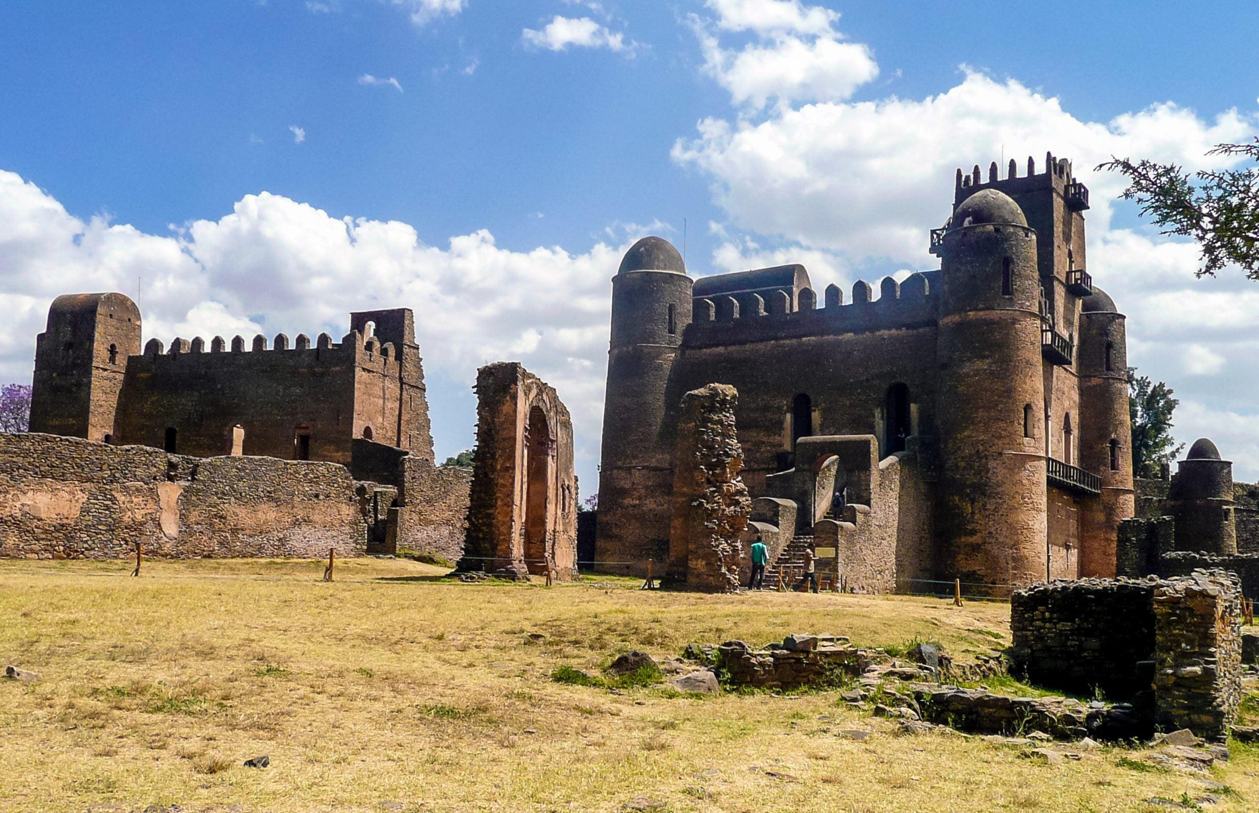 Royal ethiopian kings castle in Gondar, Ethiopia