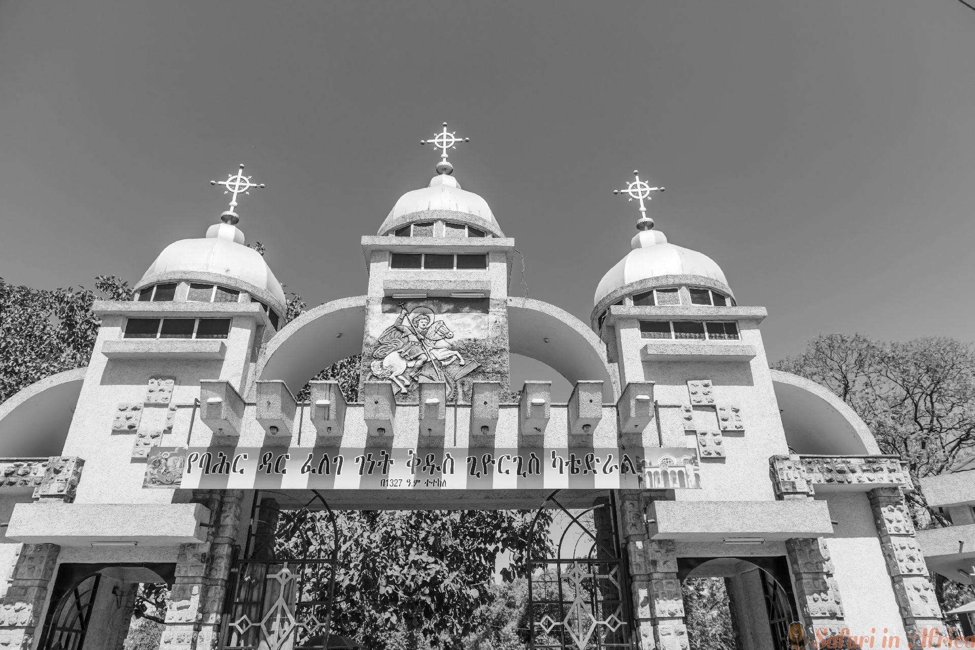 St. George kerk in Bahir Dar. Ethiop