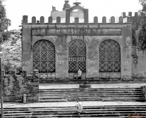 St. Mary Of Zion Church in Aksum, Ethiopia B&W