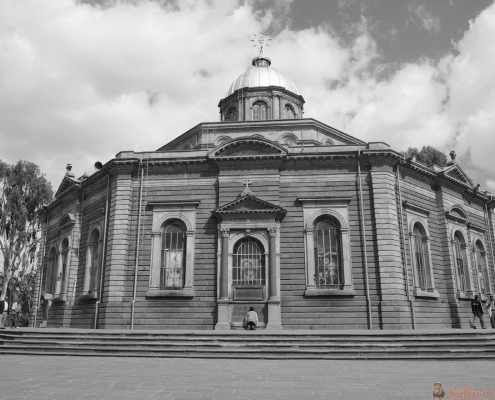 St.Georges Cathedral in Addis Ababa, Ethiopia B&W