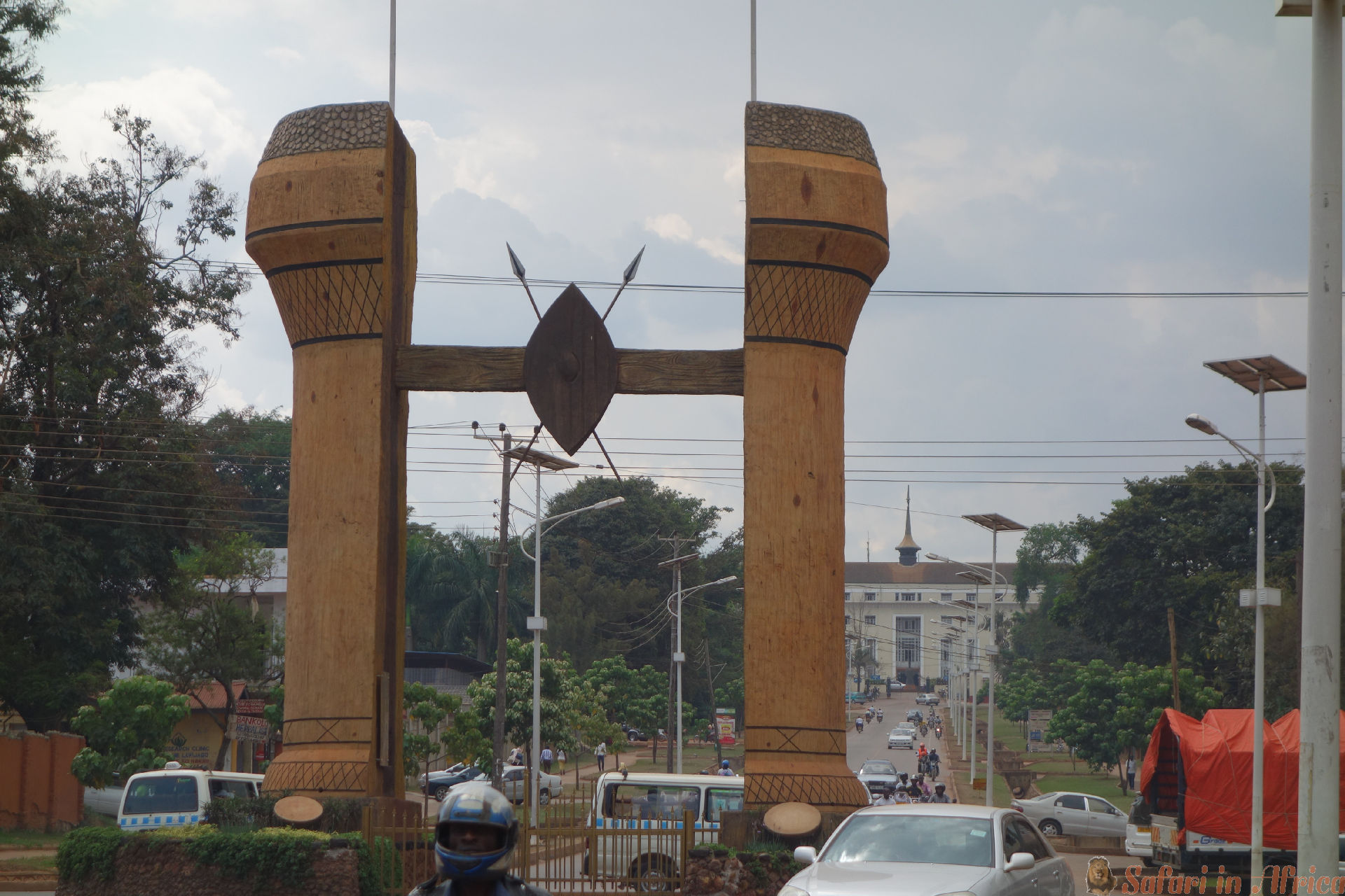 The Buganda monument in Kampala. Uganda