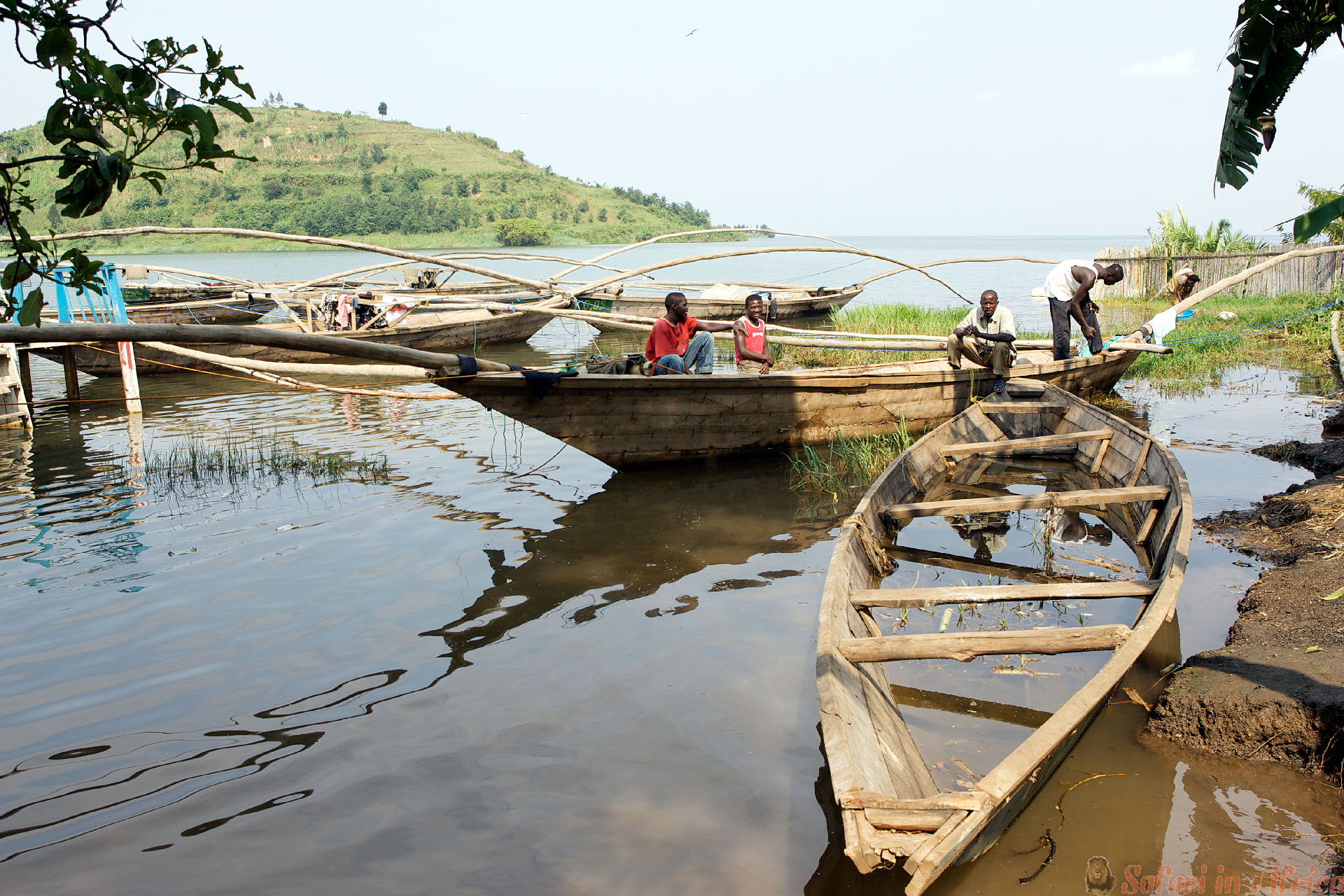 Traditional fisherman lake Kivu boat at Gisenyi.
