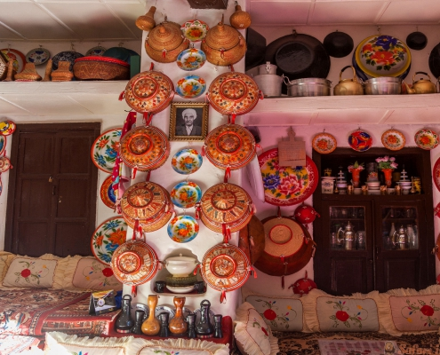 Typical interior of traditional house. Harar