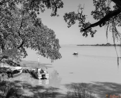 View of lake tana near bahir dar ethiopia B&W