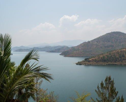 View onto Lake Kivu, Kibuye, Rwanda.