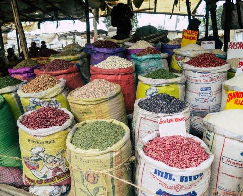 bean selling street Nairobi