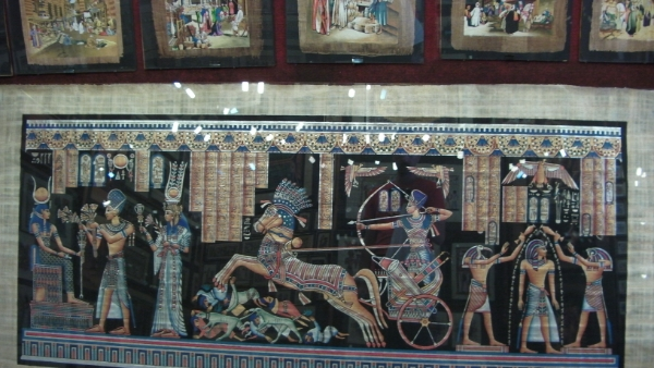 egypte-rondreis_safari-in-africa_papyrus-schilderij_01