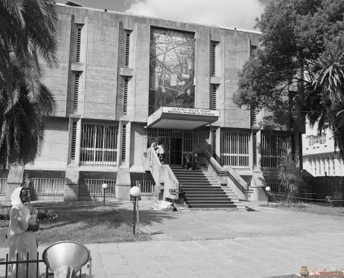 the National museum of Ethiopia building in Addis Ababa B&W